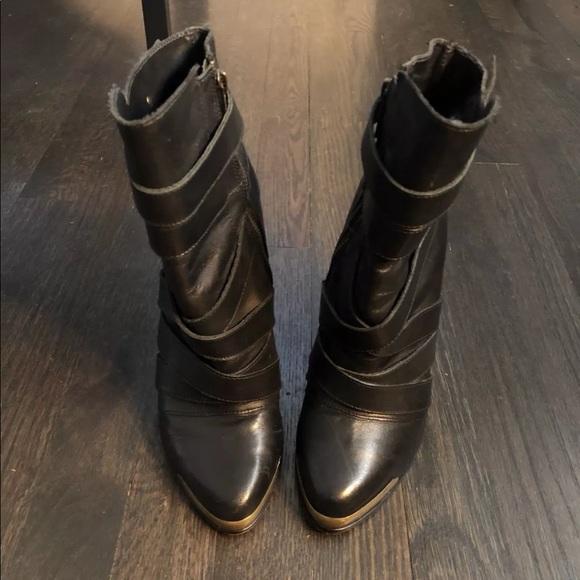 d620fee848c Joe Gold Metal Toe Black Booties, Sz. 7.5
